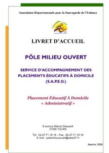 Service d'Accompagnement Placement Educatif à Domicile pole milieu ouvert administratif